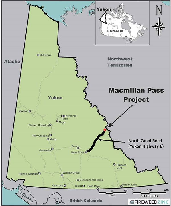 FIGURE 1: MACMILLAN PASS PROJECT LOCATION<br>AND NORTH CANOL ROAD ACCESS